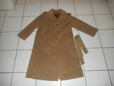 BURBERRY EXTREMELY RARE RED LABEL CAMEL CASHMERE COAT 8 6 10 M L BEIGE BROWN TOP