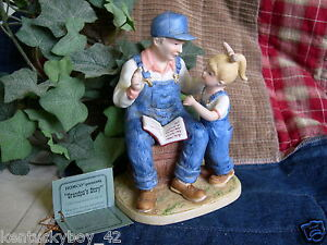 Home interiors homco denim days grandpa 39 s story figurine Home interiors denim das