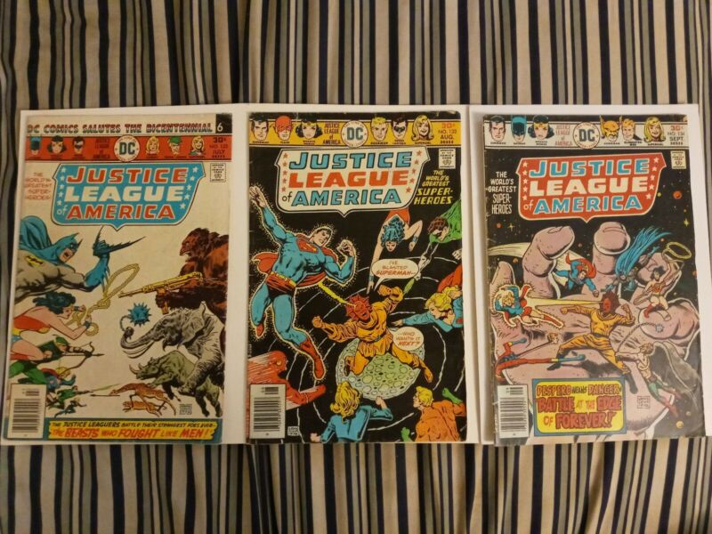 Justice League Of America Issues #132 133 134 (DC, 1976)