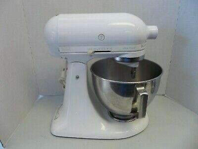 KitchenAid White Ultra Power 4.5QT Tilt-Head Stand Mixer 300W W/ Attachments