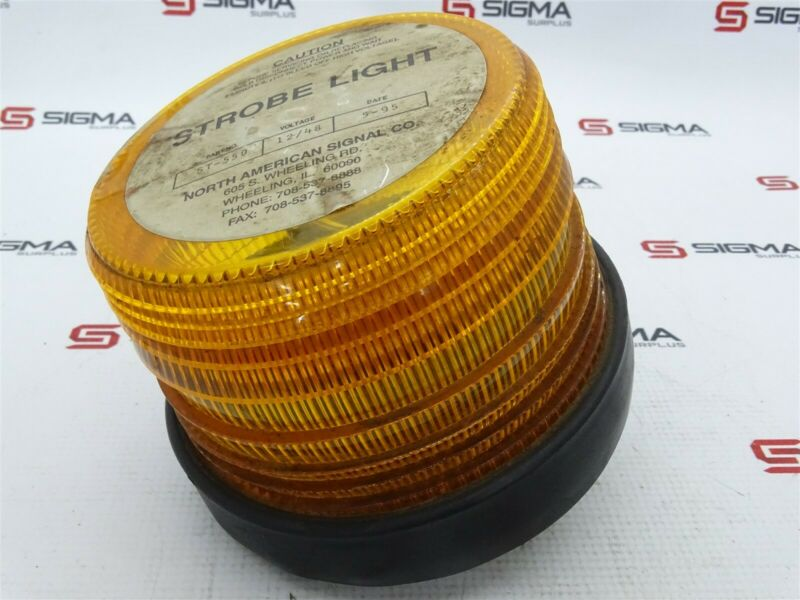 North American Signal ST-550 Strobe Light Orange 12/48V