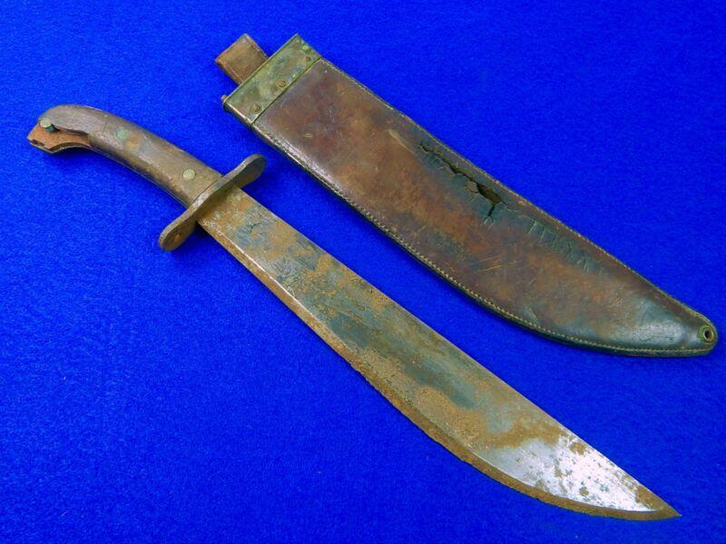 US Antique WW1 Model 1909 Bolo Fighting Knife w/ Scabbard