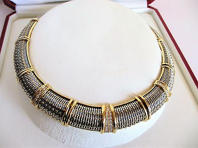 Cartier 18k Yellow Gold and Diamond Set Necklace 136 grams  1.00 CTW /Appraisal