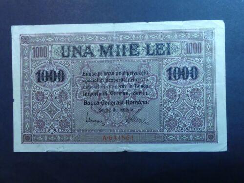 RARE: ROMANIA 1000 LEI, BANCA GENERALA ROMANA, 1917
