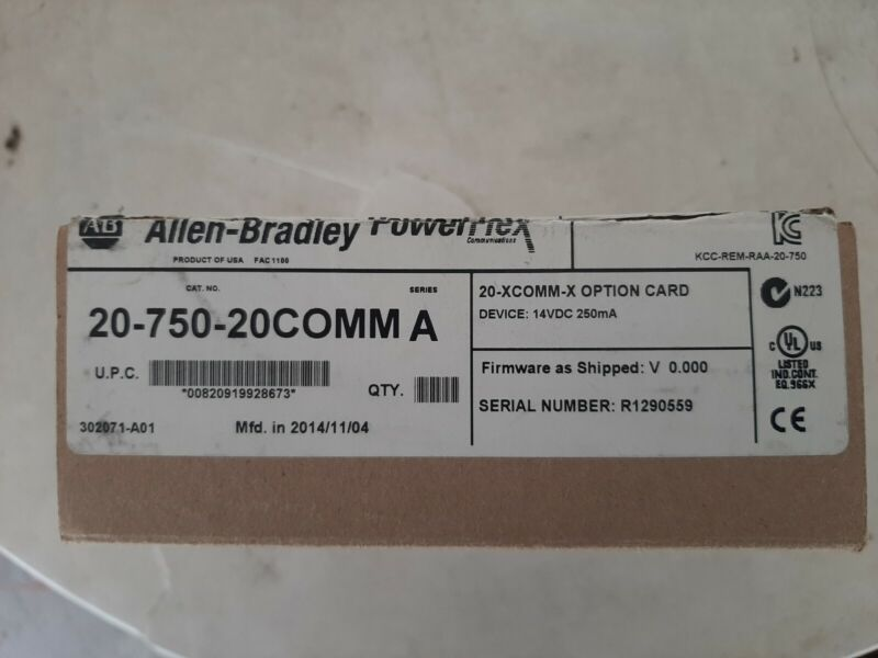 Allen Bradley Powerflex 20-750-20COMM Series A