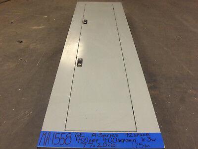 Ge 400 Amp Panel Panelboard Main 1 Phase 120v240v Single One Breaker