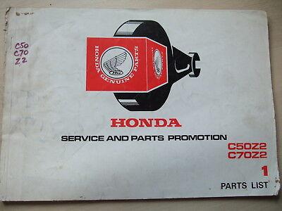 Genuine Honda C50Z2 C70Z2 Cub 1977 Parts List Catalogue Book Manual C50 C70