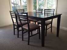 Dark Wooden dining table and chairs Holland Park Brisbane South West Preview