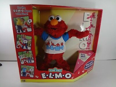 E-L-M-O singing & dancing Fisherprice plush. In Original Box - Needs - E-l-m-o Dancing Plush