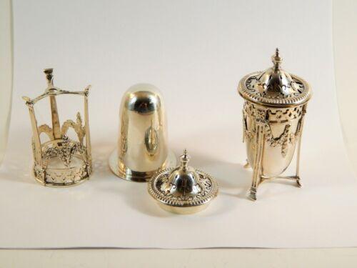 Pair Sterling Silver Condiments S Blanckensee & Son Ltd  Birmingham circa 1920