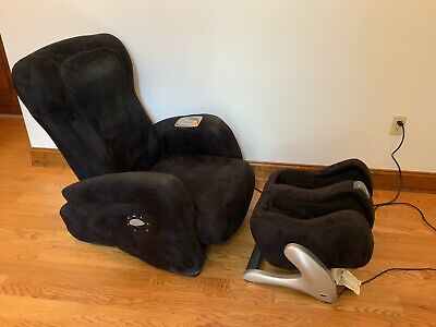 iJoy Massage Chair With Ottoman 3.0 - Black - Human Touch Technology - USED