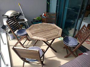 Outdoor wooden table and chairs Coorparoo Brisbane South East Preview