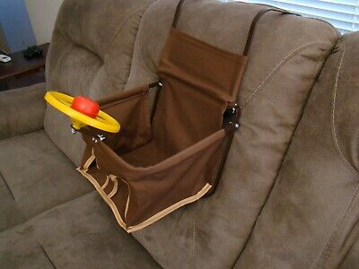 brown vintage style child car seat baby seat safety seat antique car child seat