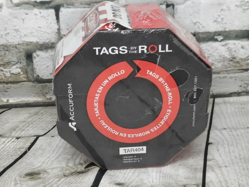 """Accuform Signs TAR404 Tags By-The-Roll. """"DANGER"""""""
