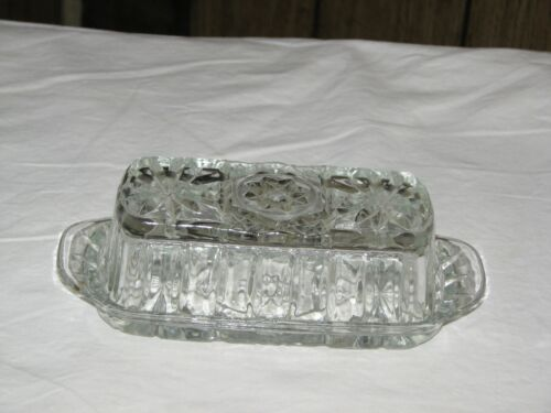 Vintage Butter Dish, Anchor Hocking star of David