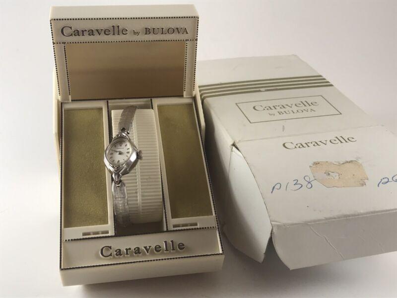 Vintage Caravelle By Bulova Women's Watch 1970s Original Packaging