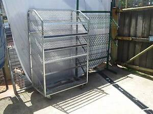 2 shop fittings stands, shelves 1on castors Moonah Glenorchy Area Preview