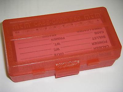 MTM Case Gard™ 50 Round Ammo Box Pistol Flip Top CLEAR RED P50-9M-29 9mm 380