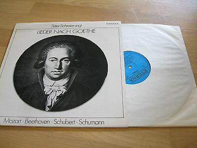 LP Peter Schreier singt Lieder nach Goethe Sehnsucht  ETERNA DDR Vinyl 827568