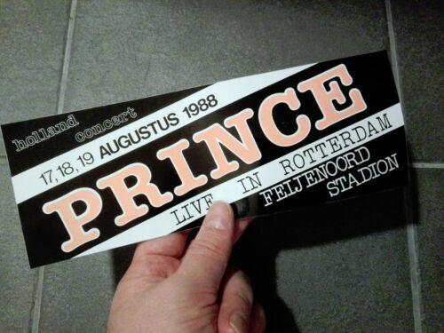 Prince - Rotterdam Netherland August 1988 vintage bumper sticker ad