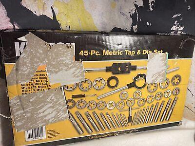 Klutch Tap Die Set- 45-pc Metric Tap Die Tool Kit W Case