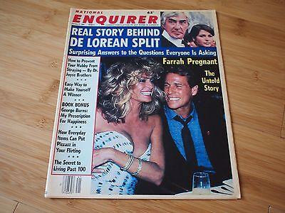 1984 ENQUIRER Newspaper Mag FARRAH FAWCETT RYAN ONEAL PRINCESS DIANA