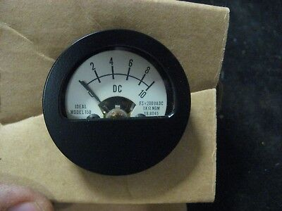 IDEAL Precision Meter Model 150 Arbitrary Scale DC Meter NOS USA Made