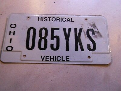 VINTAGE OHIO LICENSE PLATE HISTORICAL VEHICLE PLATE NO 085YKS