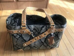 Faux Snake Leather Pet Carrier