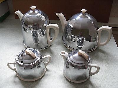 1950's VINTAGE / RETRO CELTIC CHROME TEA SERVICE - VERY GOOD CONDITION