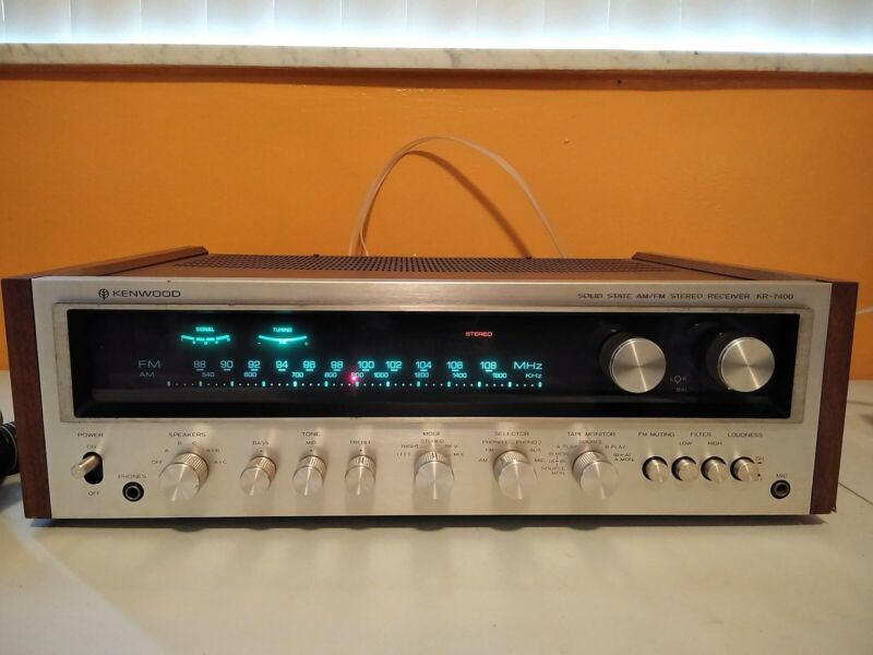 Kenwood KR-7400 AM FM FM STEREO RECEIVER Tested and working