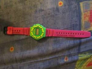 Girls Surfing Time Pink & Green Watch (Water Resistant 200m)*NEW*