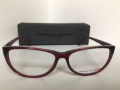 New PORSCHE DESIGN P8246 P 8246 C 56mm Ruby Cats Eye Eyeglasses Frame (Porsche Eye Frames)