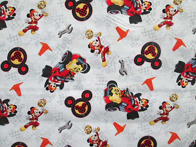 MICKEY MOUSE RACING RACE CAR COMIC BOOK COTTON FABRIC BTHY  for sale  Grand Rapids