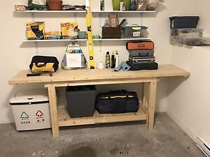 8 foot long solid workbench
