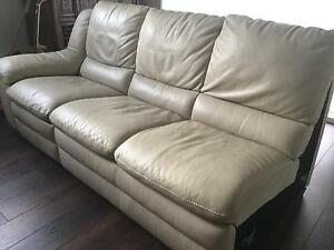 Free - Italian leather 3 seater sofa with recliner Killarney Heights Warringah Area Preview