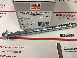 20pk simpson strong tie thd50800h titen hd concrete screw. Black Bedroom Furniture Sets. Home Design Ideas
