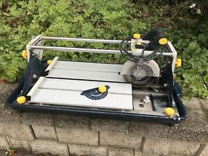 Wet Tile Saw - Mastercraft - ceramic or porcelain tile