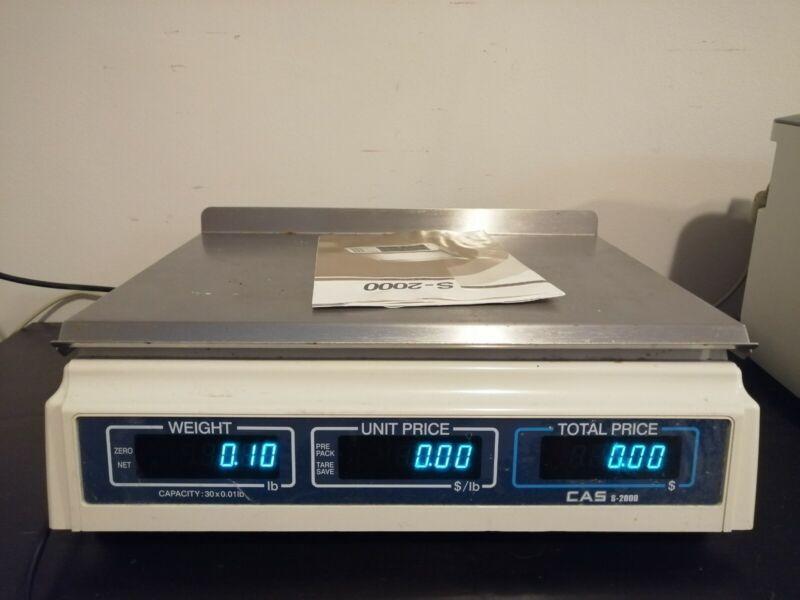CAS S2000 Price computing Scale, 30 lb