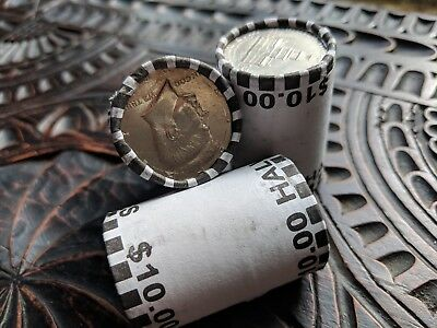 Half Dollar Coin Roll    Possible 90  Silver Kennedy Franklin   Bank Sealed Lot
