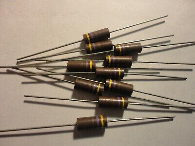 10pcs 470 Ohm-1watt-20 Carbon Comp. Resistor