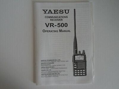 YAESU VR-500 (GENUINE INSTRUCTION MANUAL ONLY)...........RADIO_TRADER_IRELAND. segunda mano  Embacar hacia Spain