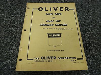 Oliver Model Bd Cletrac Crawler Tractor Dozer Parts Catalog Manual Book