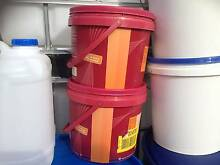 10L B grade plastic buckets with lids Bellbowrie Brisbane North West Preview