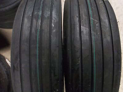 Two 8.5l-14 8.5lx14 Rib Implement Tractor Tires With Tubes 6 Ply