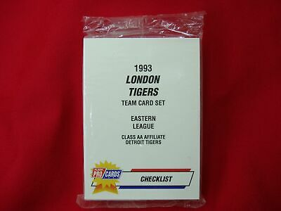 - 1993 LONDON TIGERS MINOR LEAGUE TEAM SET FLEER PROCARDS FACTORY SEALED VERY NICE