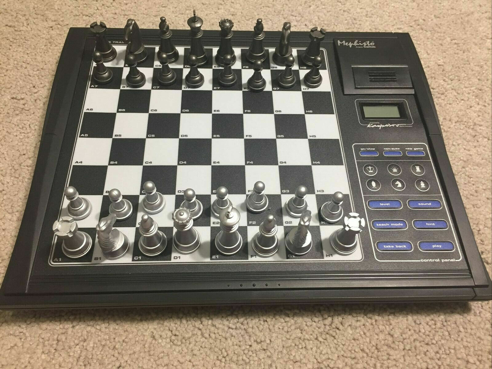 Computer Games - Electronic computer Talking Chess Trainer Working Tested 100% Complete