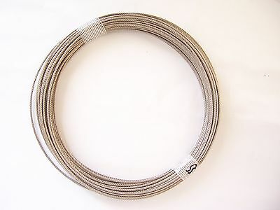 304 Stainless Steel Wire Rope Cable 116 7x7 100 Ft Coil Made In Korea