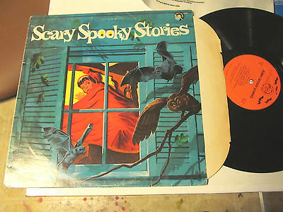 Scary Spooky Stories LP Troll records '73 halloween ghost creepy orig rare - Creepy Children Halloween Music