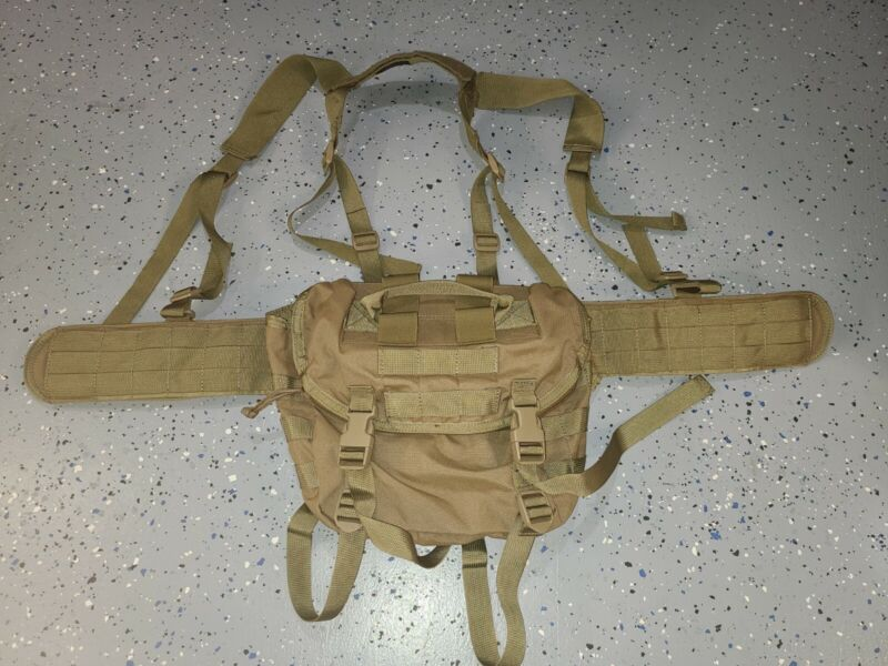 Special Operations Equipment War Belt sz 30 Coyote H Harness and Butt Pack